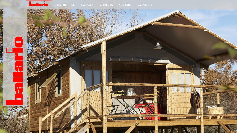 Site vitrine statique réalisé pour l'entreprise Ballario (81)