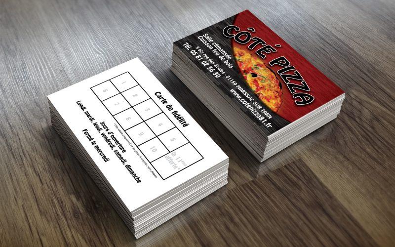 Cartes de fidélité Côté Pizza