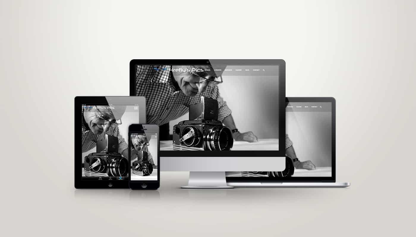 Site vitrine dynamique réalisé pour la photographe Firefly's Pics